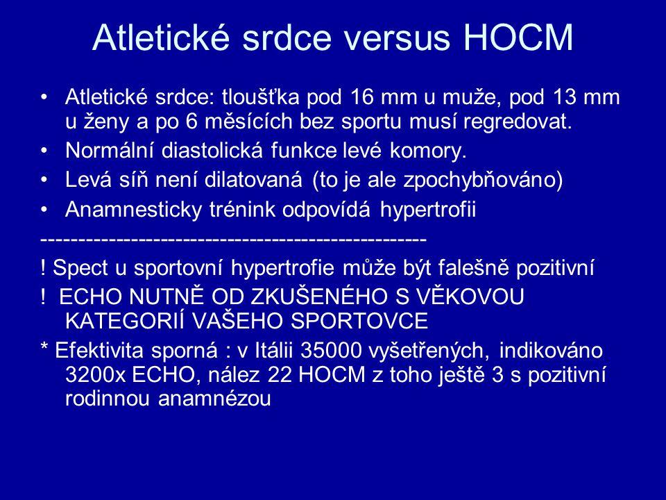 Atletické srdce versus HOCM