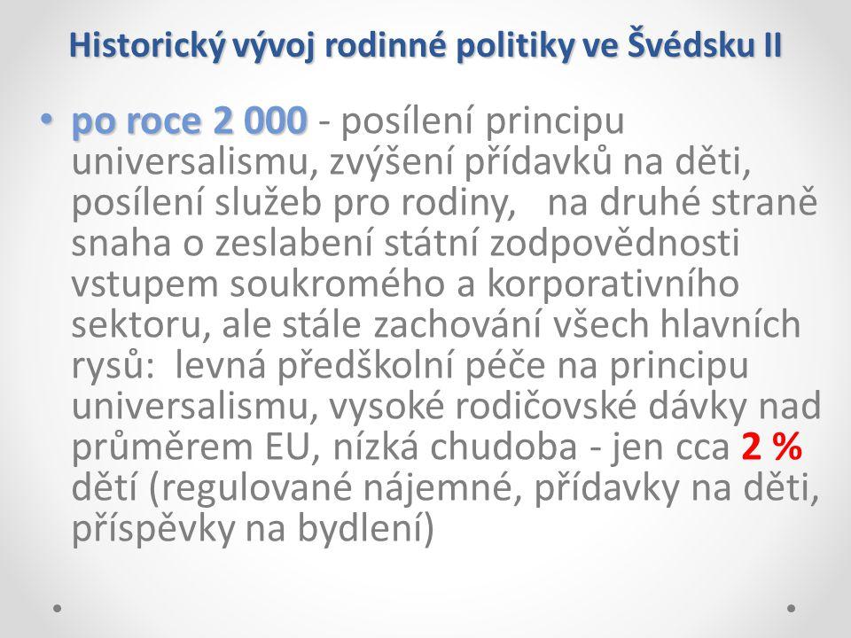 Historický vývoj rodinné politiky ve Švédsku II