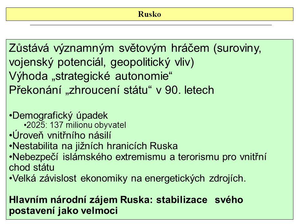 """Výhoda """"strategické autonomie"""