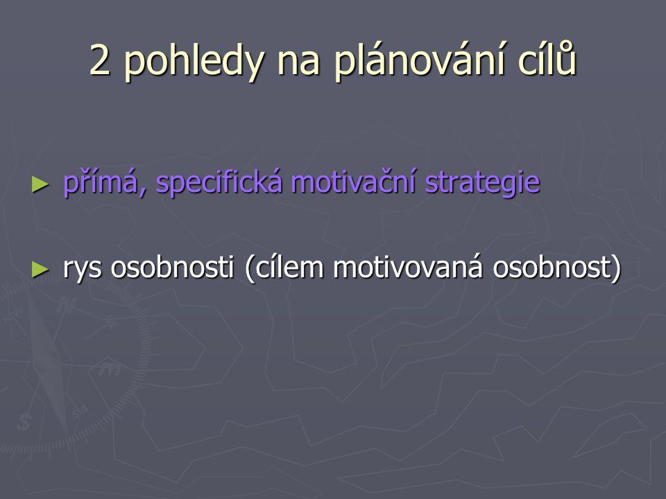 2 pohledy na plánování cílů