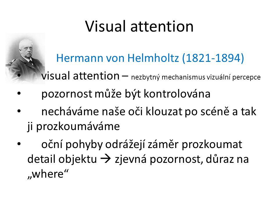 Visual attention Hermann von Helmholtz (1821-1894)