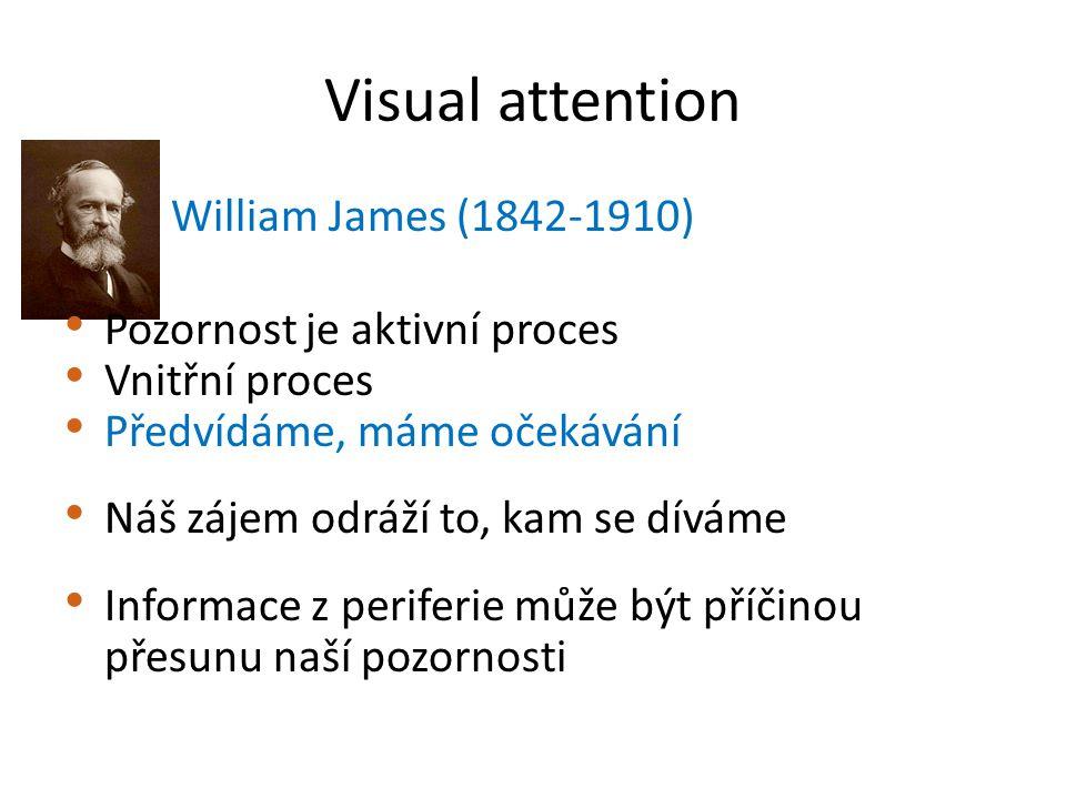 Visual attention William James (1842-1910) Pozornost je aktivní proces