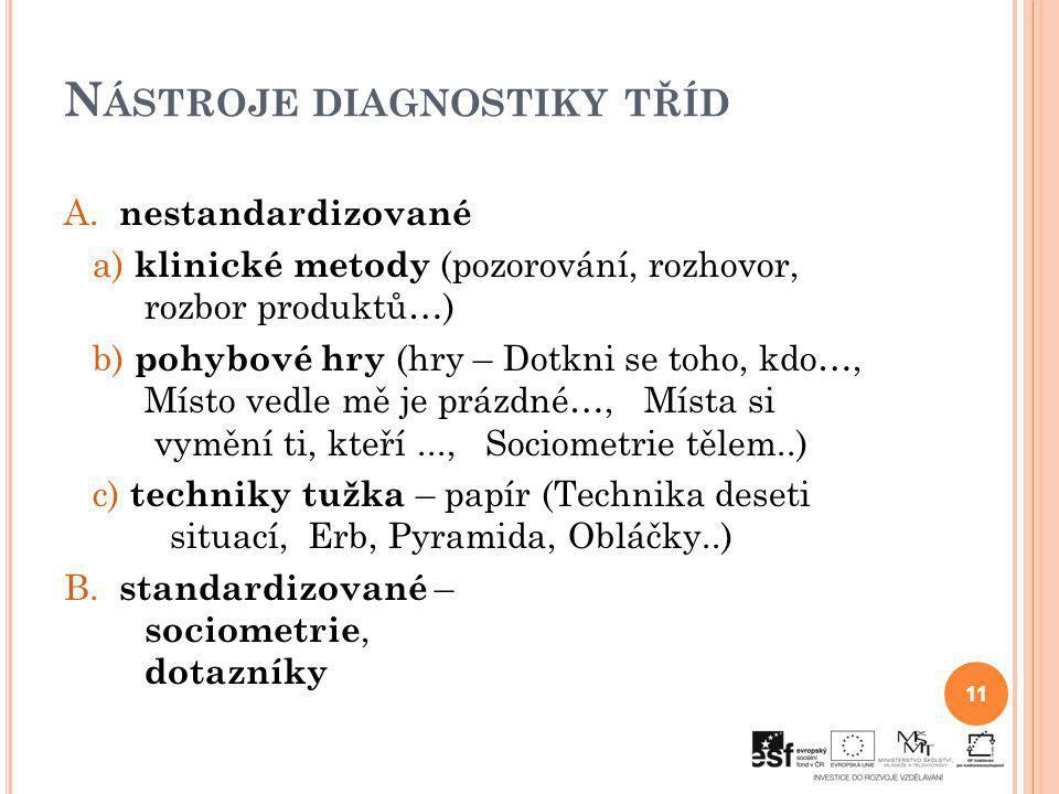 Nástroje diagnostiky tříd