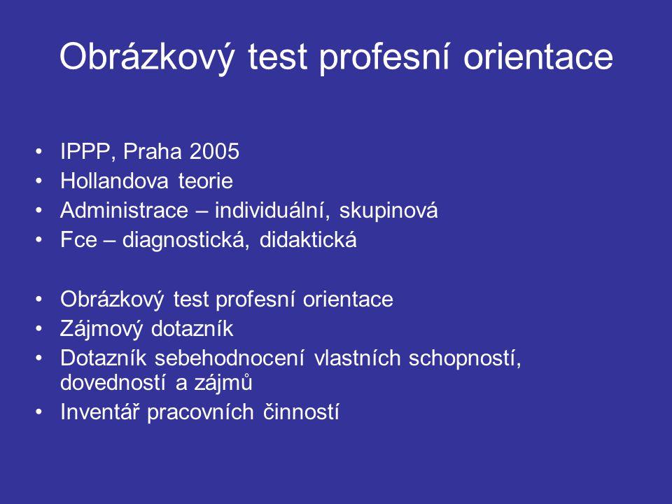 Obrázkový test profesní orientace