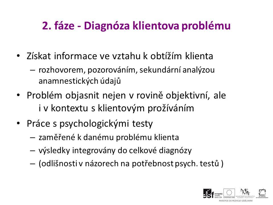 2. fáze - Diagnóza klientova problému