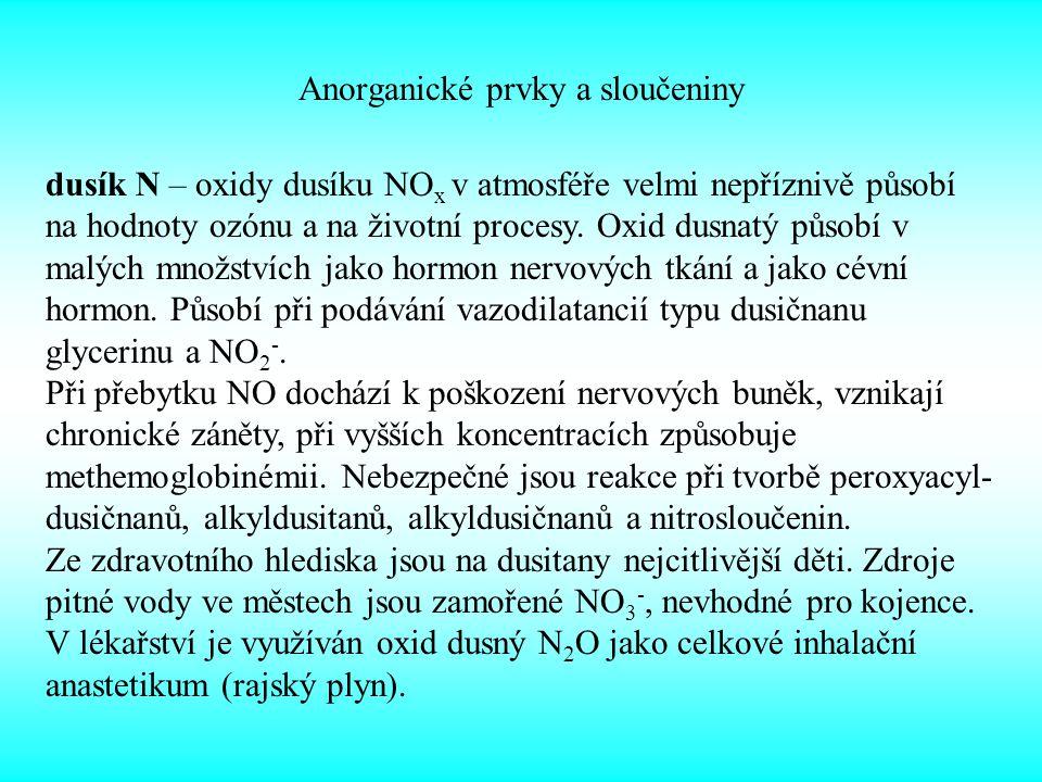 Anorganické prvky a sloučeniny
