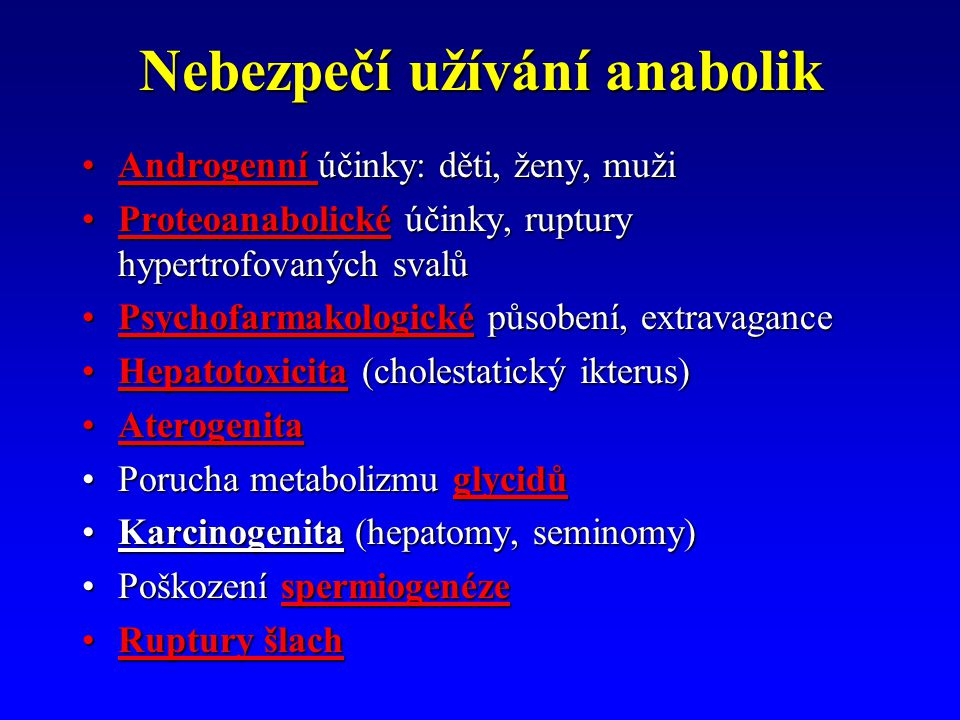 Nebezpečí užívání anabolik