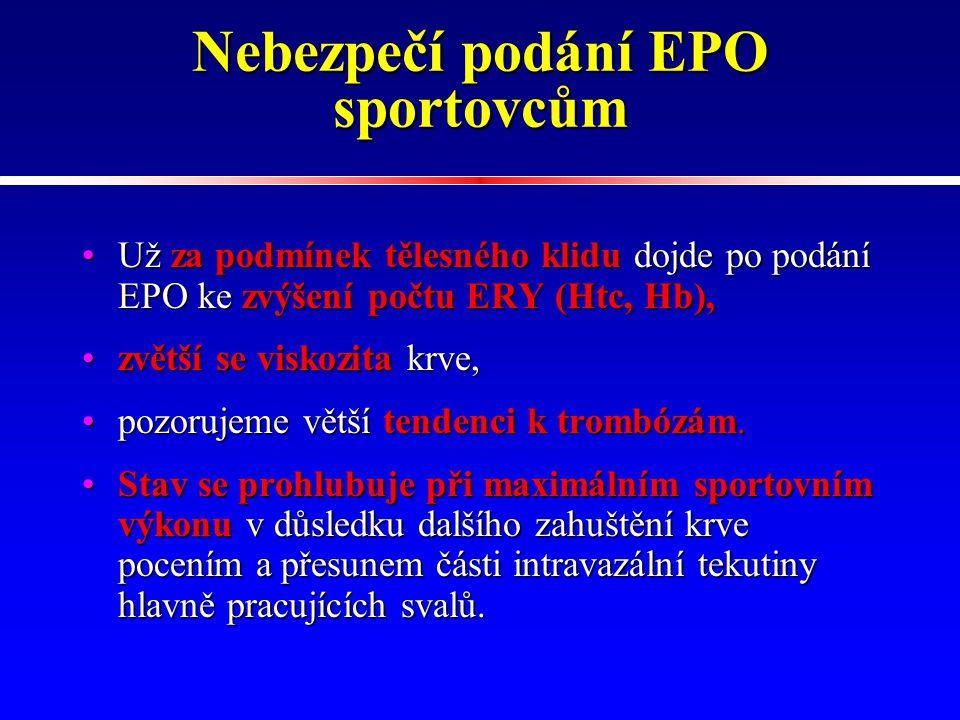 Nebezpečí podání EPO sportovcům
