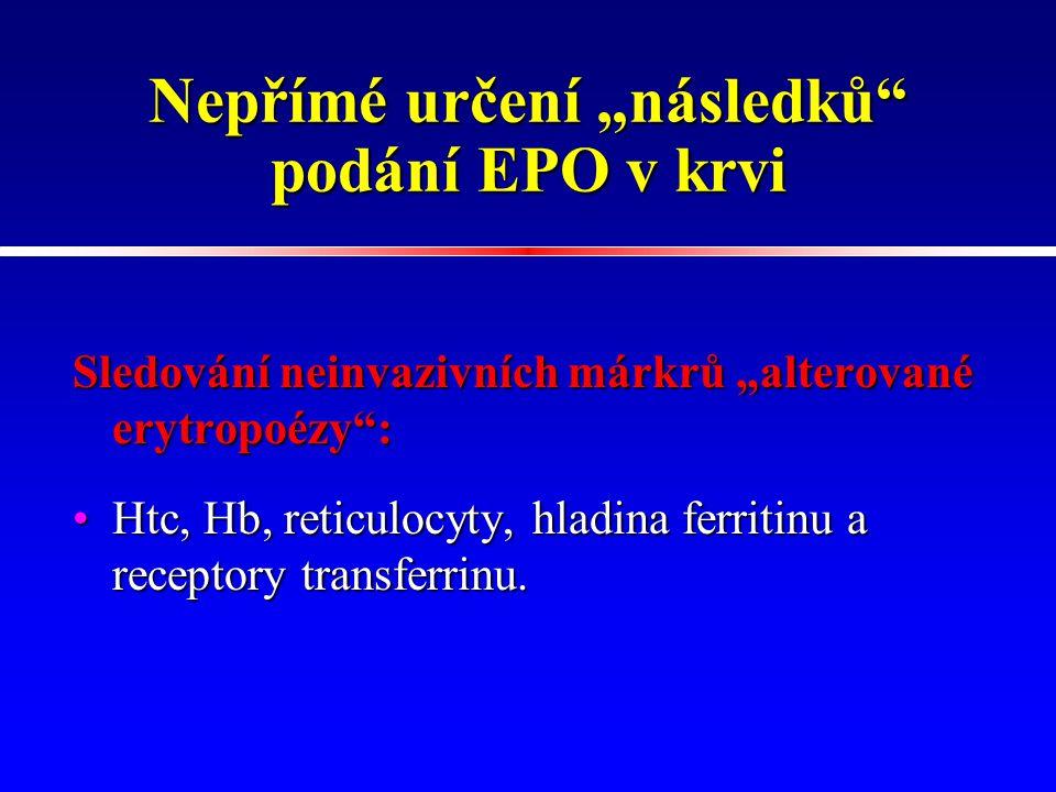 """Nepřímé určení """"následků podání EPO v krvi"""
