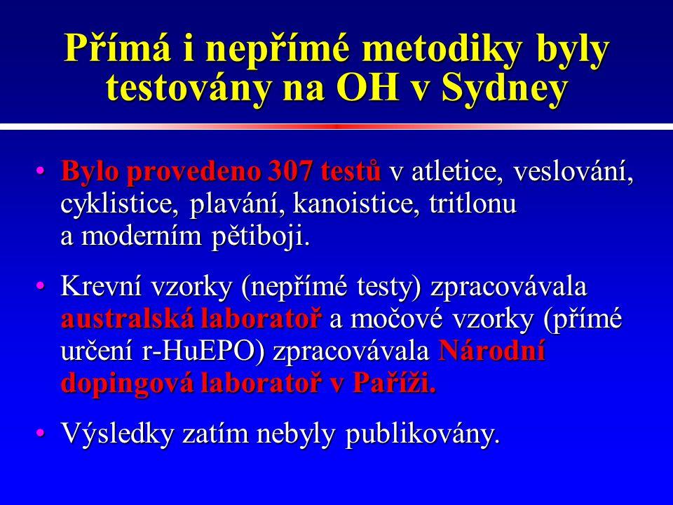 Přímá i nepřímé metodiky byly testovány na OH v Sydney