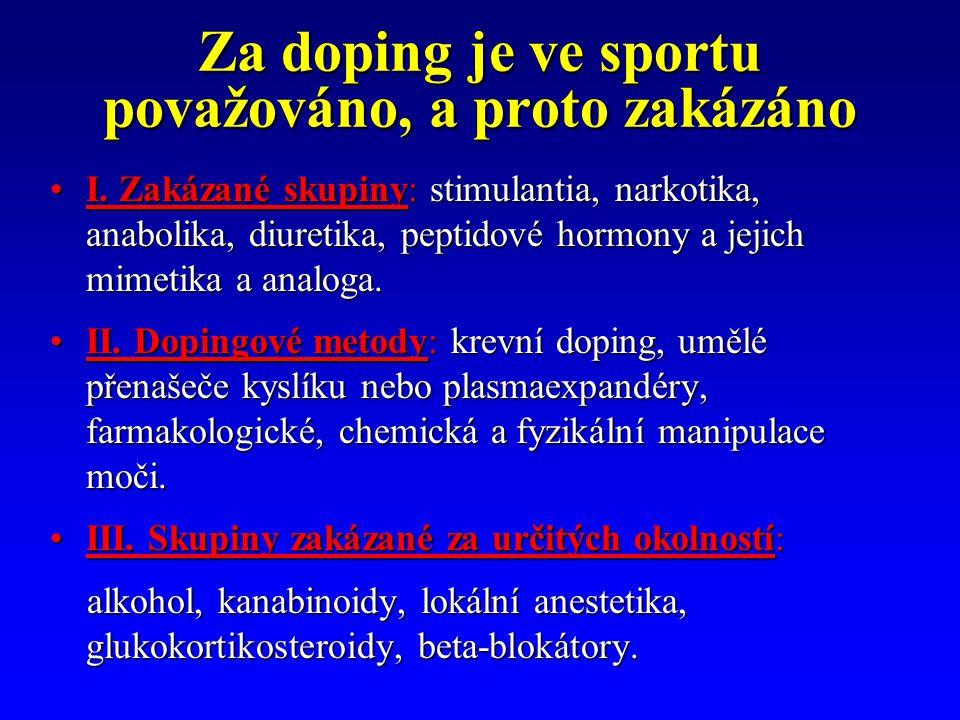 Za doping je ve sportu považováno, a proto zakázáno