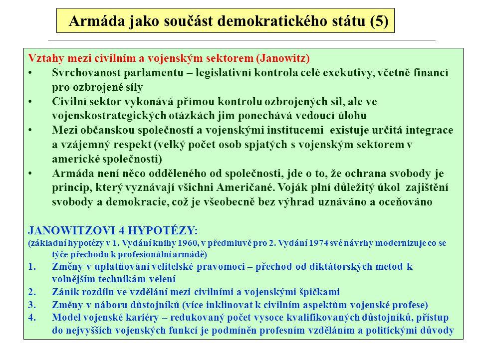 Armáda jako součást demokratického státu (5)