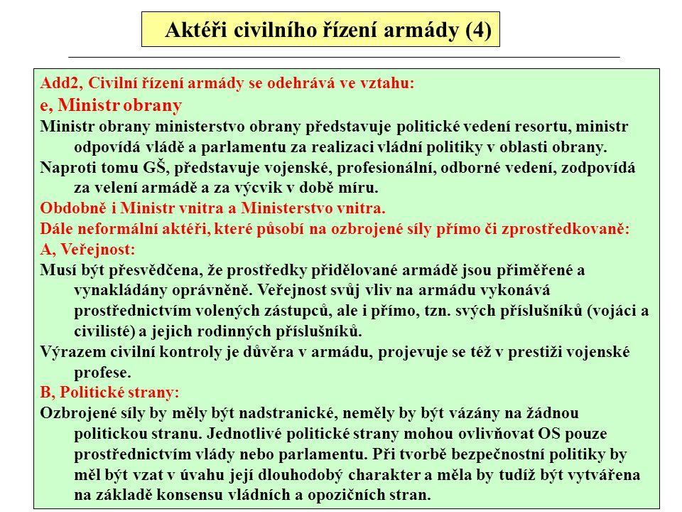 Aktéři civilního řízení armády (4)