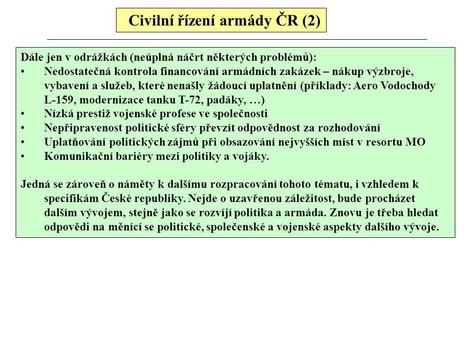 Civilní řízení armády ČR (2)