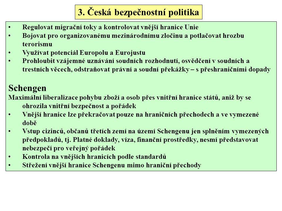 3. Česká bezpečnostní politika