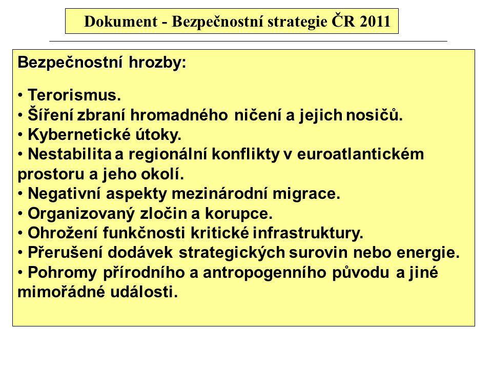 Dokument - Bezpečnostní strategie ČR 2011