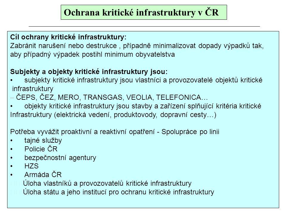 Ochrana kritické infrastruktury v ČR
