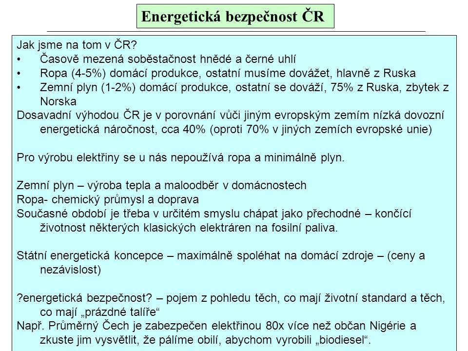 Energetická bezpečnost ČR