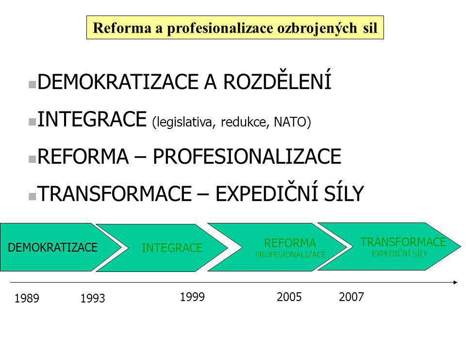 Reforma a profesionalizace ozbrojených sil