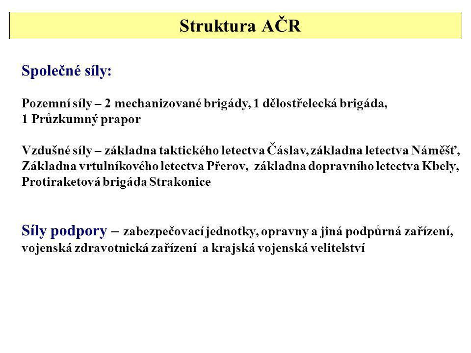 Struktura AČR Společné síly: