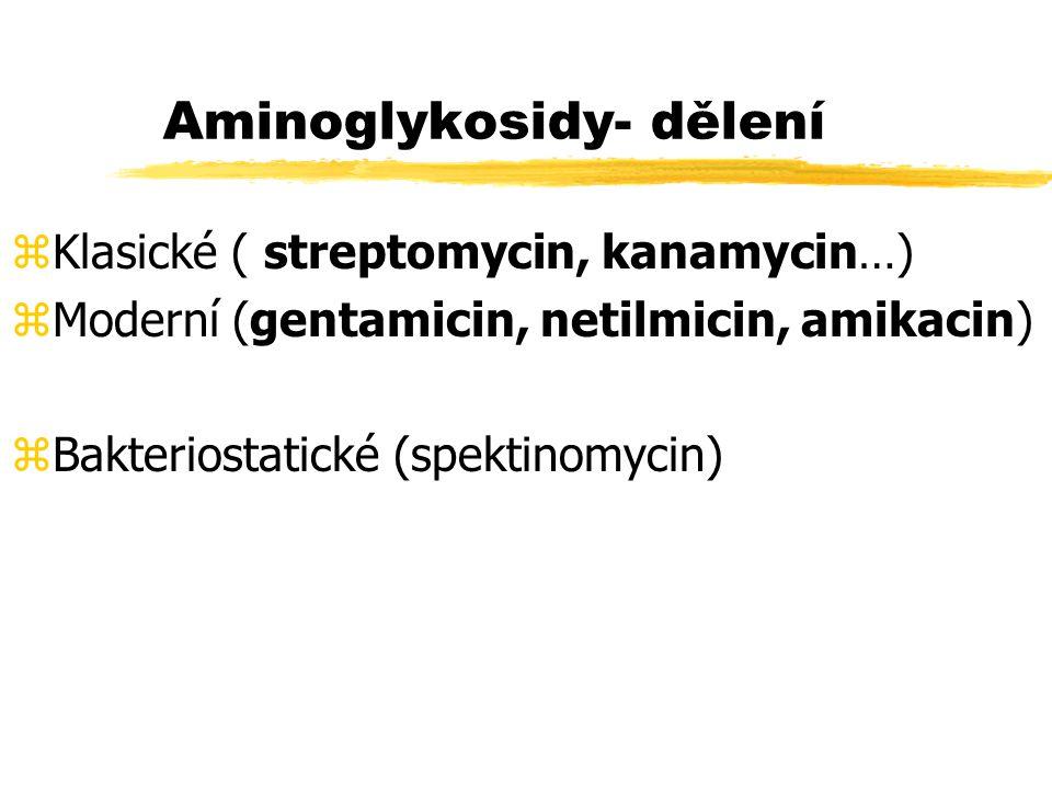 Aminoglykosidy- dělení