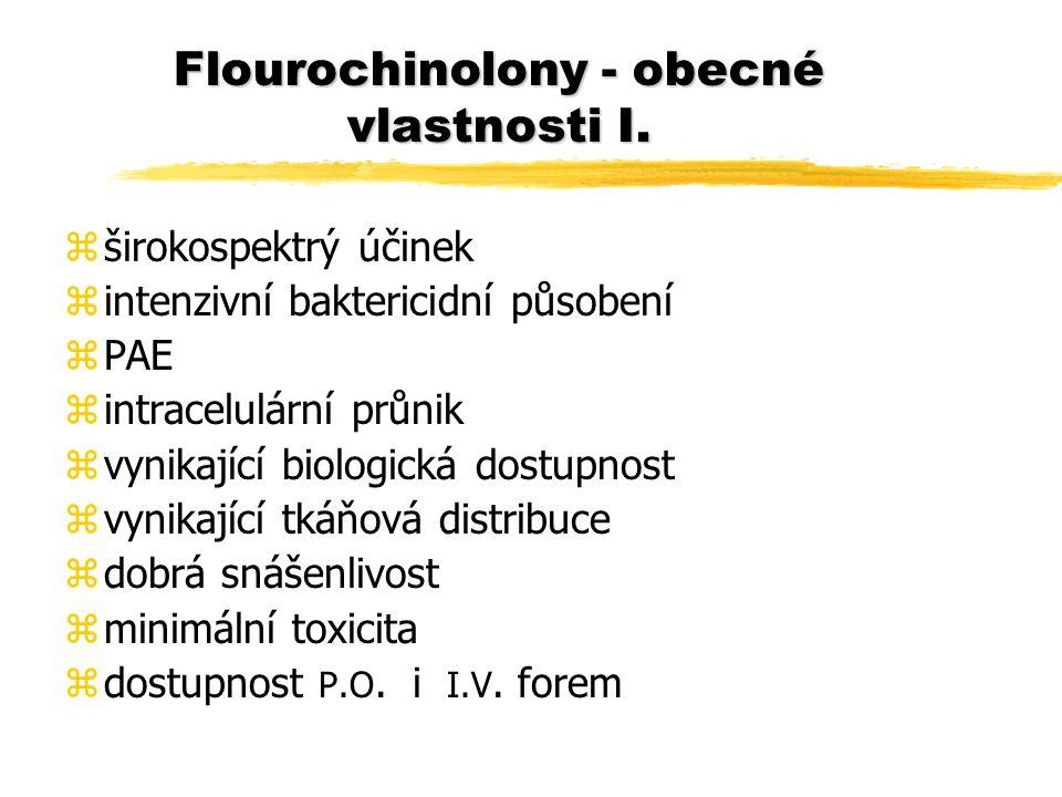 Flourochinolony - obecné vlastnosti I.