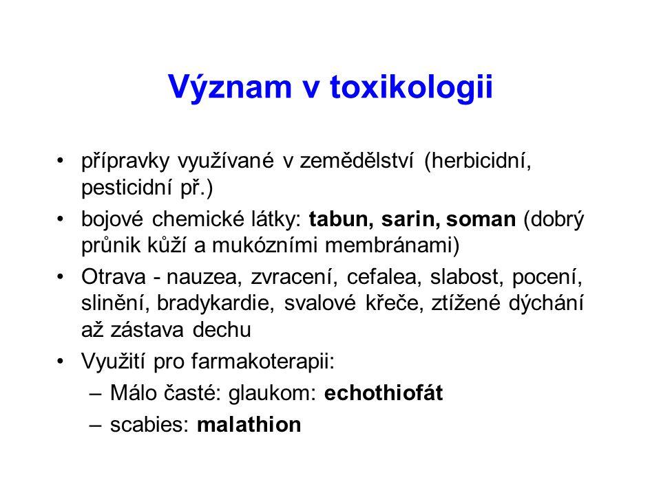 Význam v toxikologii přípravky využívané v zemědělství (herbicidní, pesticidní př.)
