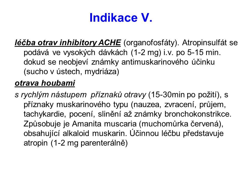 Indikace V.