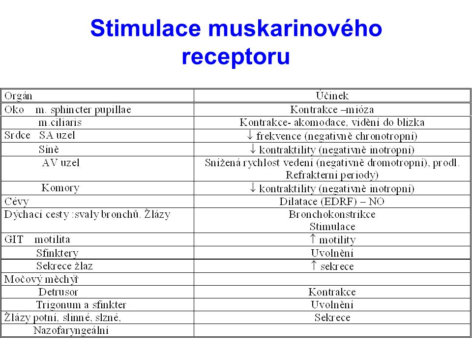 Stimulace muskarinového receptoru