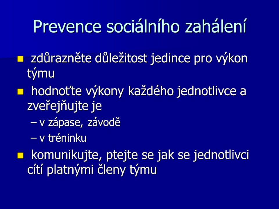 Prevence sociálního zahálení