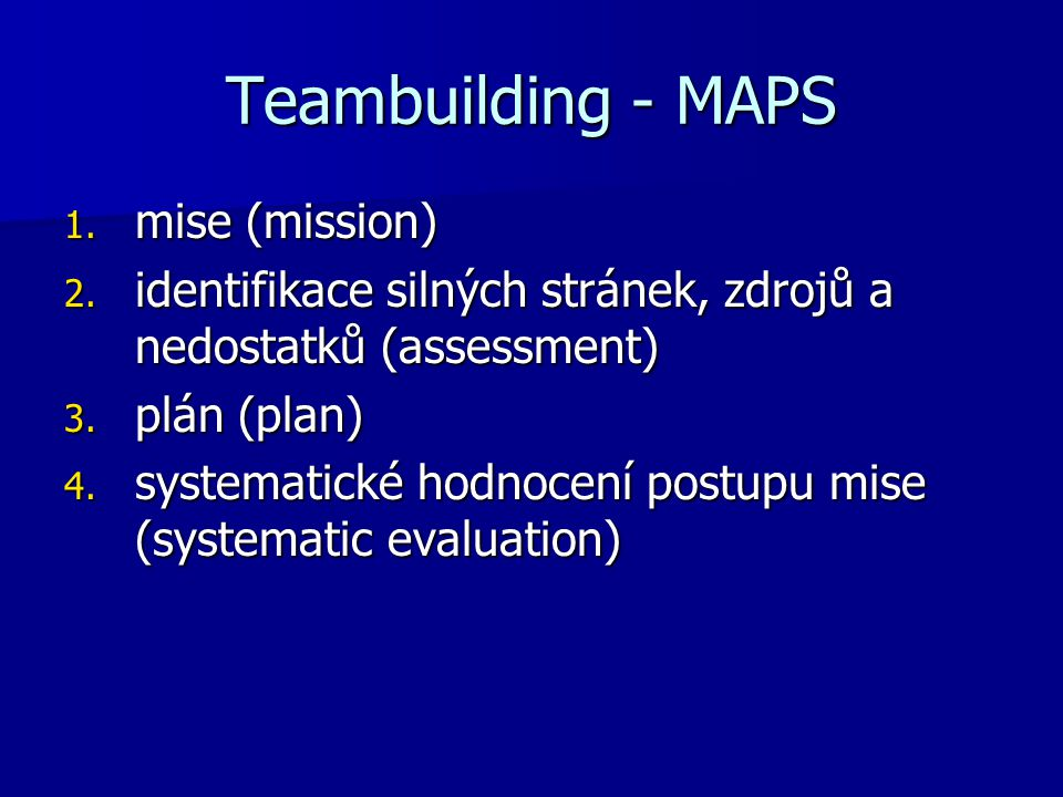 Teambuilding - MAPS mise (mission)