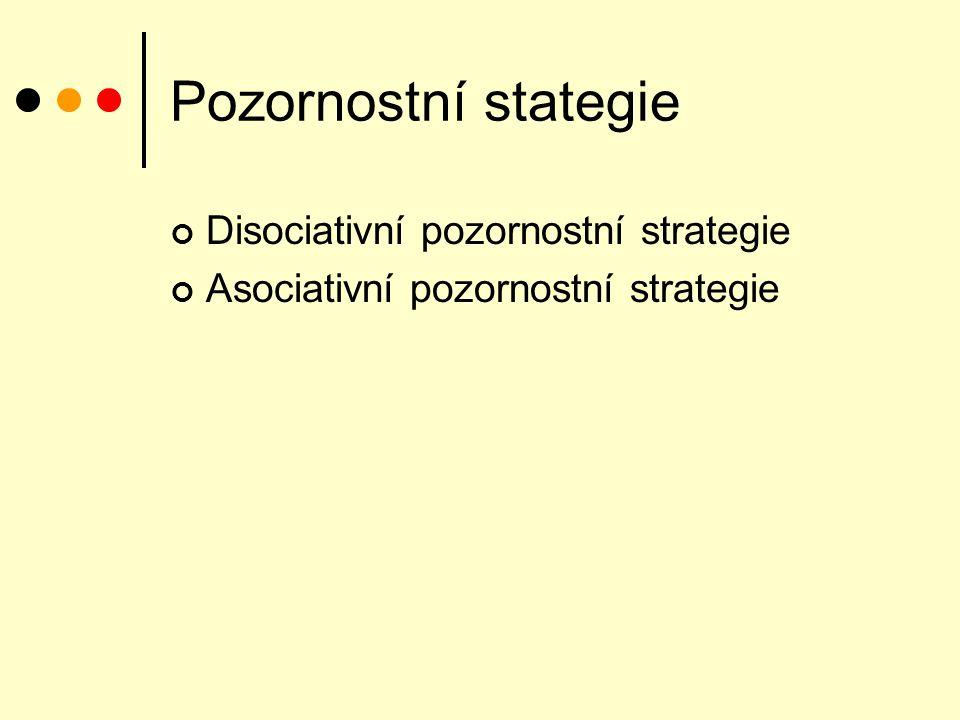 Pozornostní stategie Disociativní pozornostní strategie