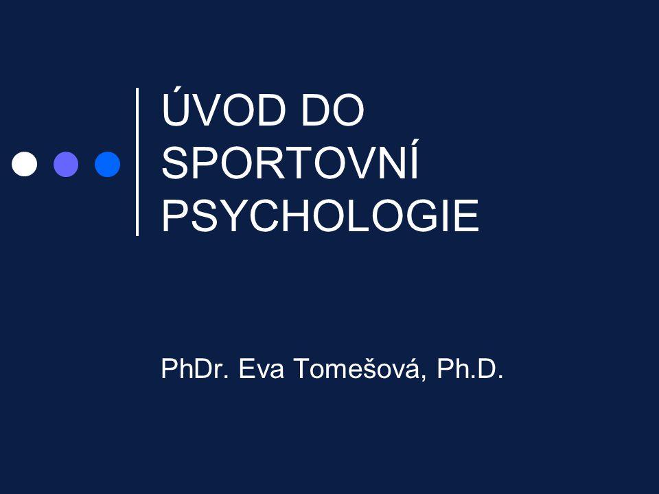 ÚVOD DO SPORTOVNÍ PSYCHOLOGIE