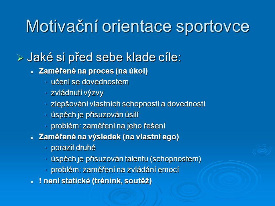 Motivační orientace sportovce