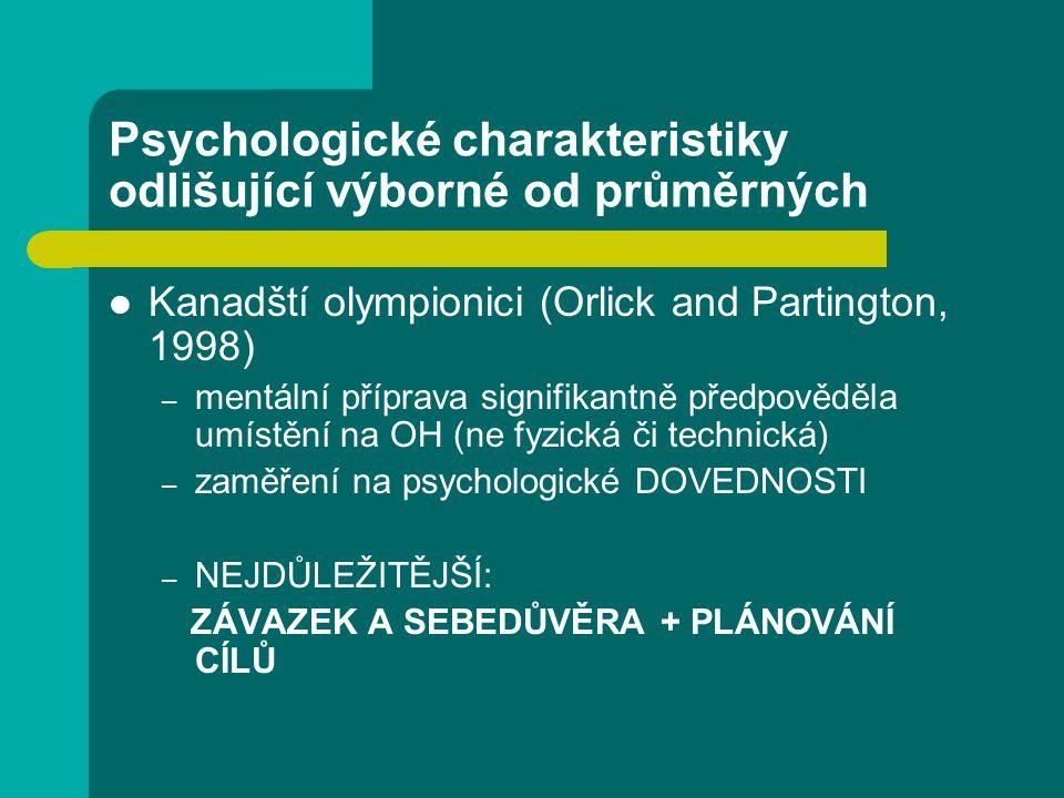 Psychologické charakteristiky odlišující výborné od průměrných