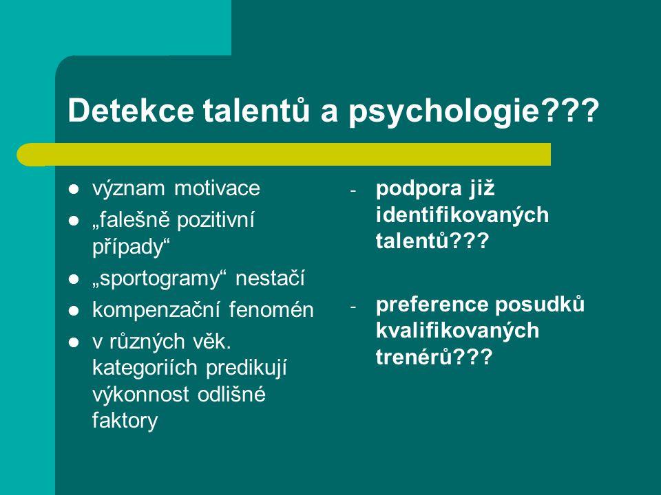 Detekce talentů a psychologie