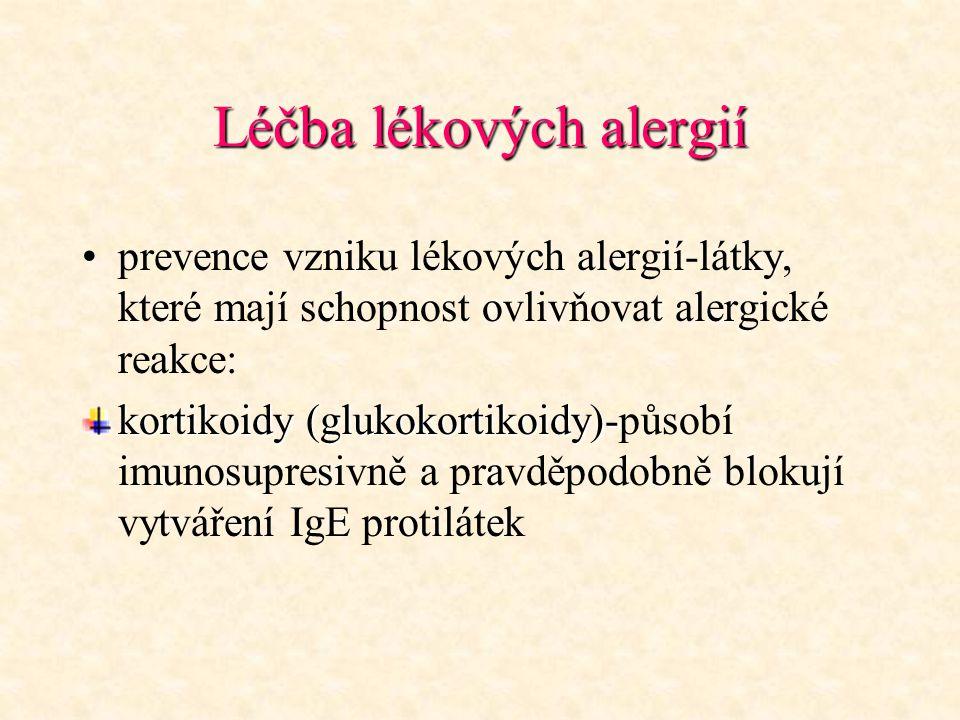 Léčba lékových alergií