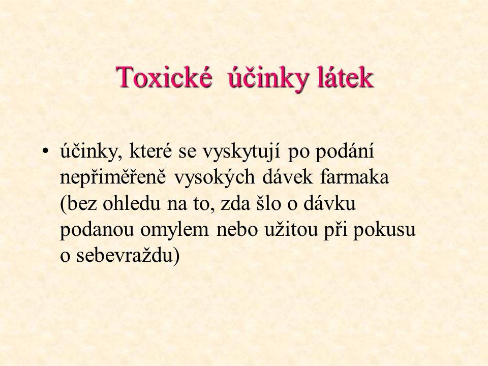 Toxické účinky látek