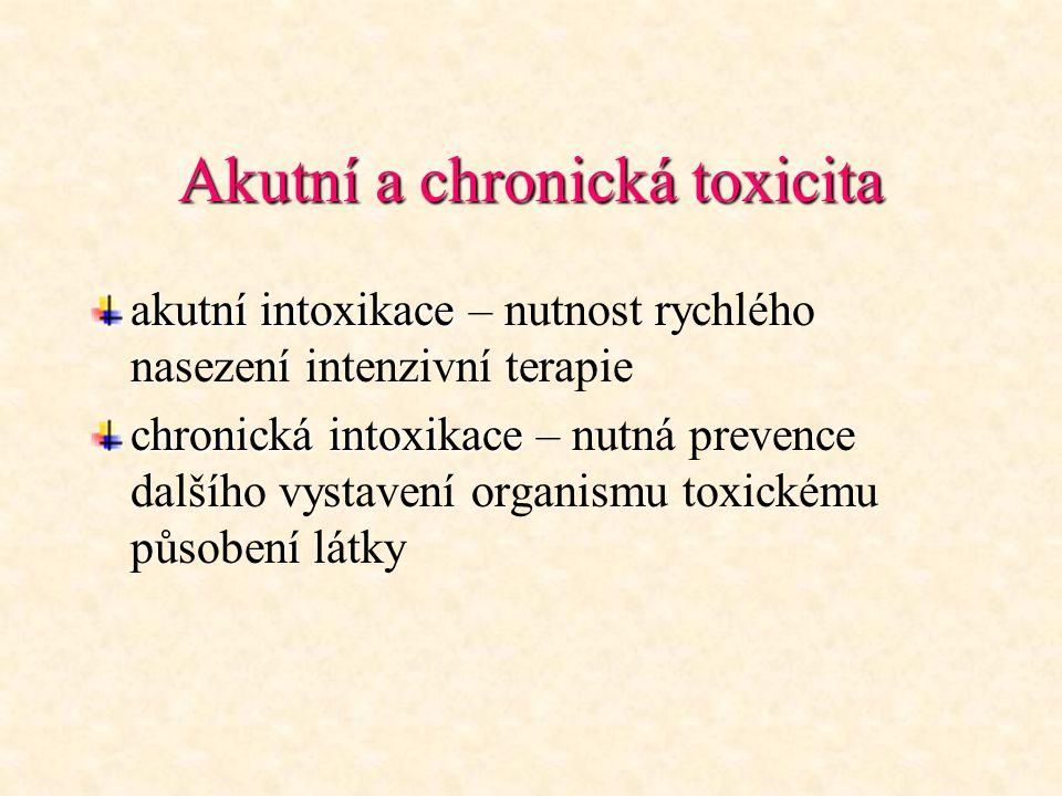 Akutní a chronická toxicita