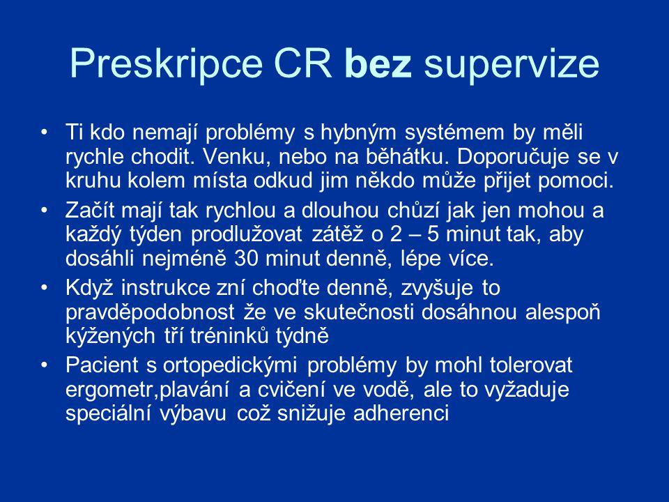 Preskripce CR bez supervize