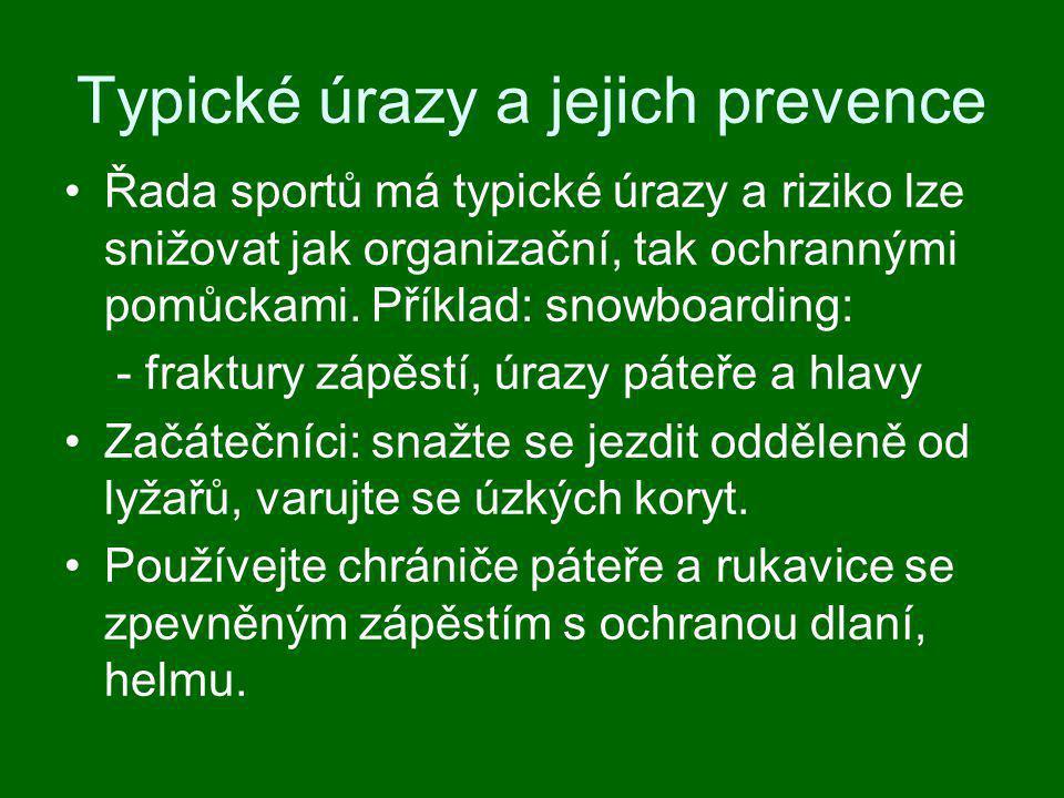 Typické úrazy a jejich prevence