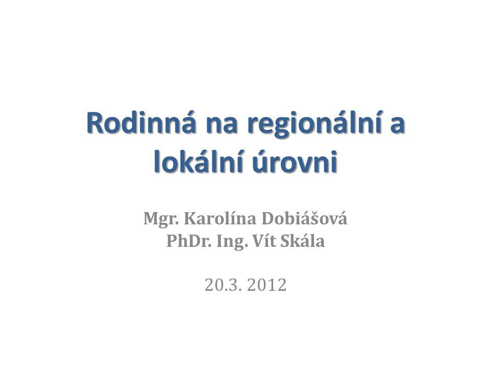 Rodinná na regionální a lokální úrovni