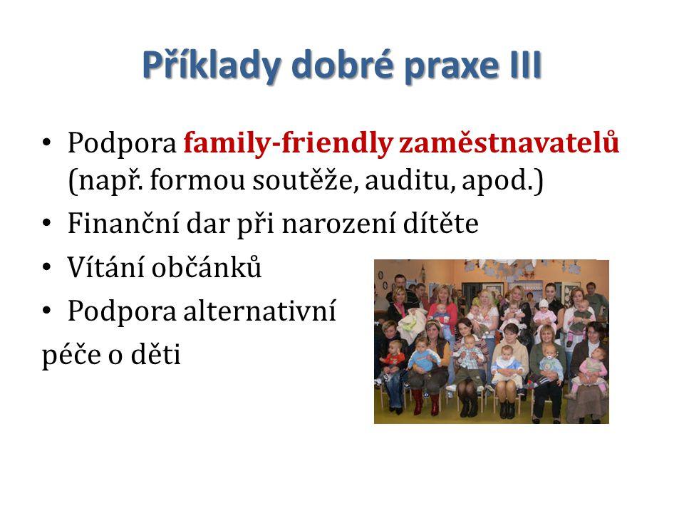 Příklady dobré praxe III