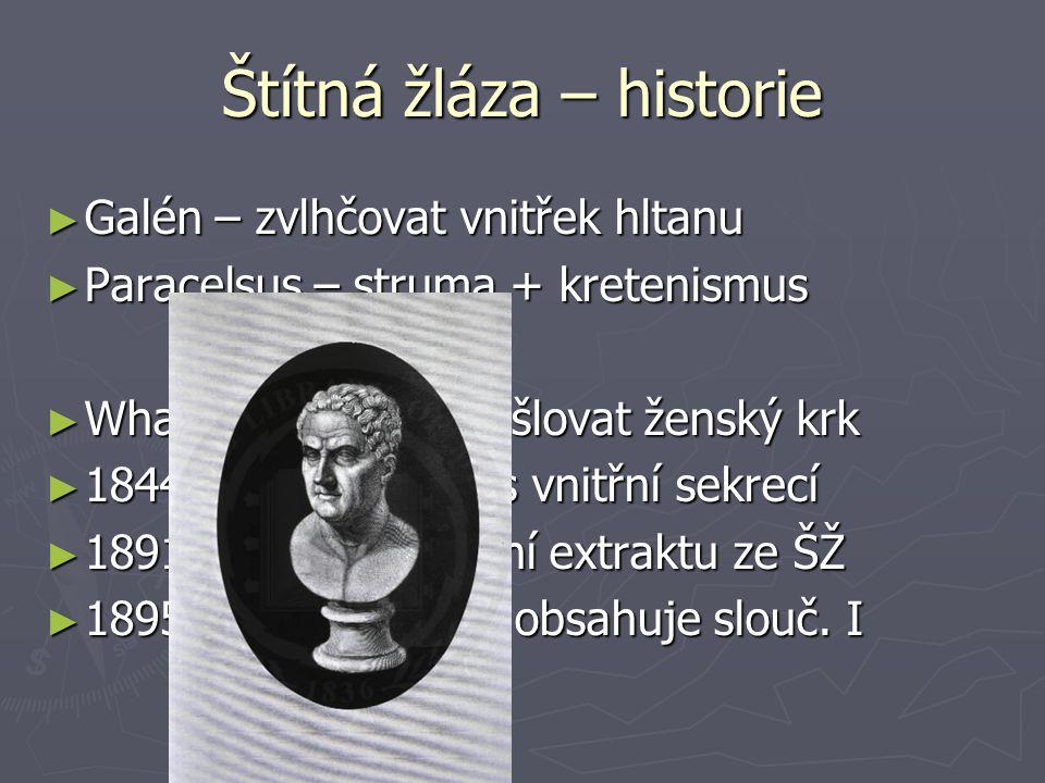 Štítná žláza – historie