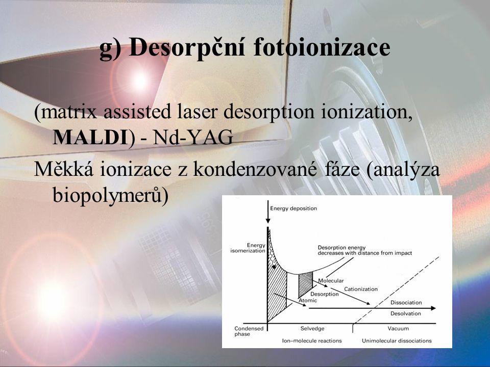 g) Desorpční fotoionizace
