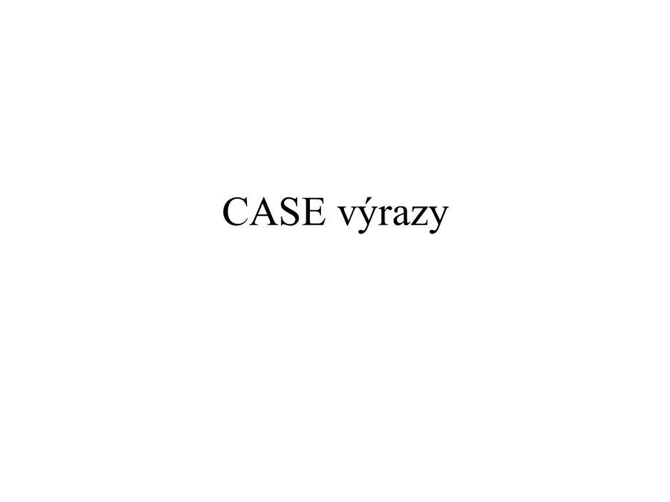 CASE výrazy 283
