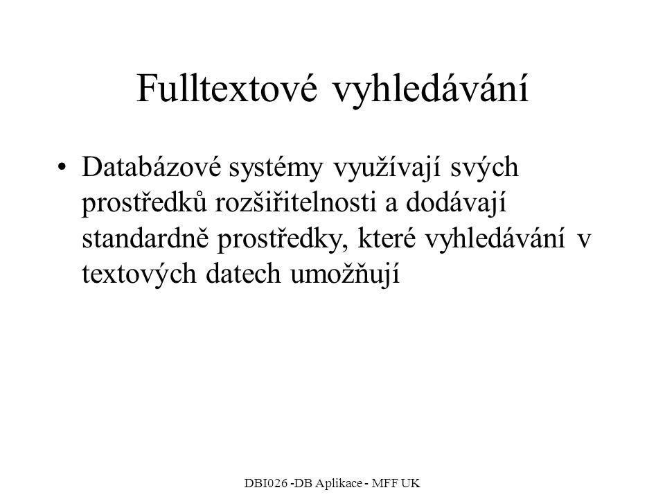 Fulltextové vyhledávání