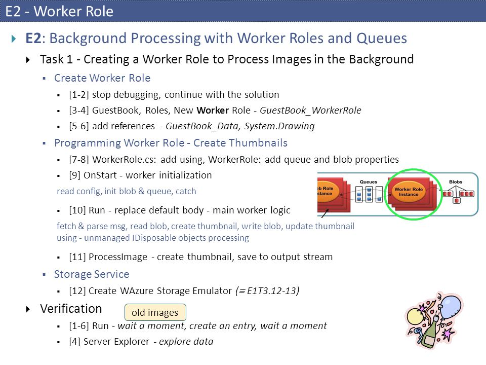 E2: Background Processing with Worker Roles and Queues
