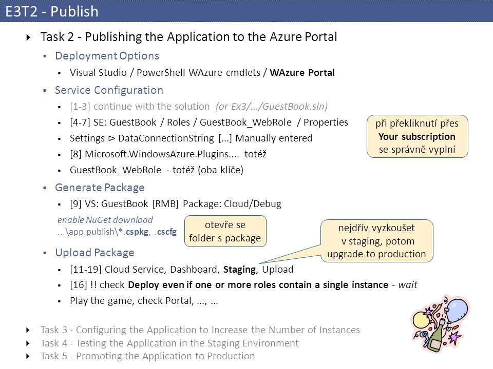 E3T2 - Publish Task 2 - Publishing the Application to the Azure Portal