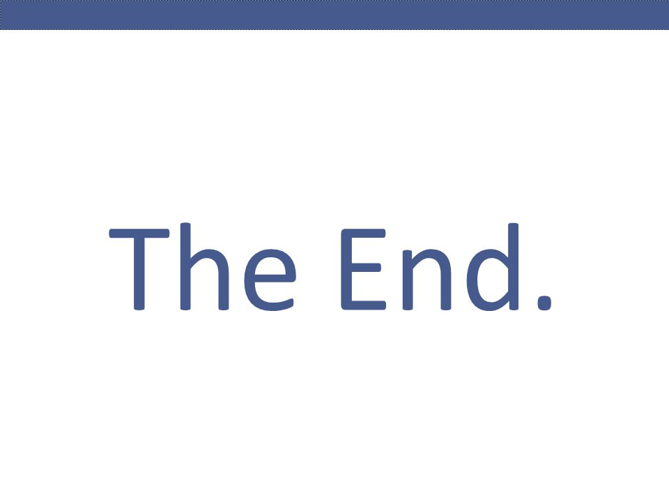 The End. the book